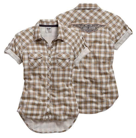 99136-15VW H-D® Women's Genuine Plaid Short Sleeve Shirt