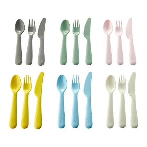 KALAS 18-piece cutlery set, mixed colours assorted colours. 00378672