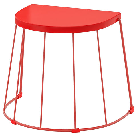 TRANARO Stool/side table, in/outdoor, red, 56x41x43 cm. 90411422