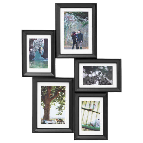 KNOPPANG Collage frame for 5 photos, black. 40389602