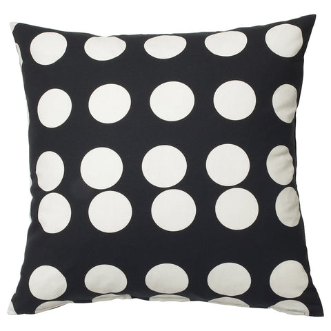 KLARASTINA Cushion cover, black, white, 50x50 cm. 30443831