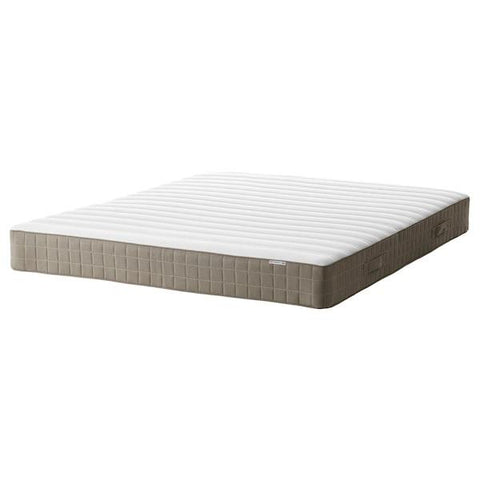 HAMARVIK Sprung mattress, medium firm, dark beige, 150x200 cm. 60352971