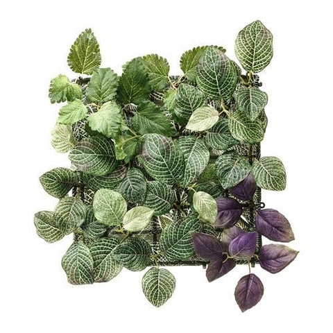 FEJKA Artificial plant, wall mounted, in/outdoor green/lilac. 70349544