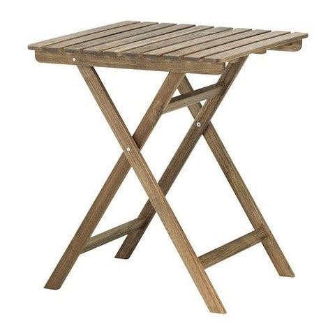 90240034 - ASKHOLMEN Table, outdoor, foldable grey-brown stained light brown light brown stained