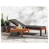 APPLARO Sun lounger, brown stained brown. 70208544