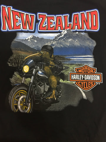 5L33-KIWI H-D Tee Men`s Kiwi On A Bike