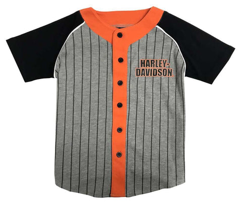 1081833  H-D Little Boys' Striped Raglan Toddler Baseball Jersey
