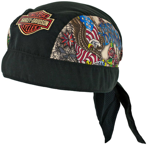 7280621 Harley-Davidson® Boys' Bar & Shield Black Doo Rag Headwrap