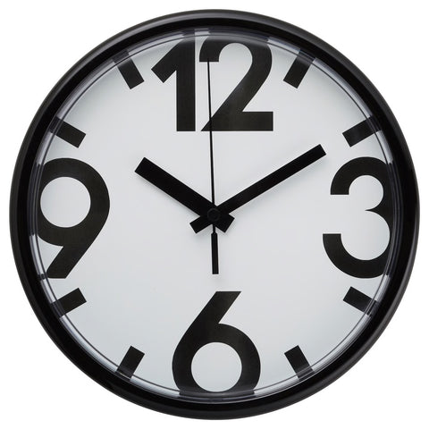 JYCKE Wall clock, white, black, 23 cm. 50414960