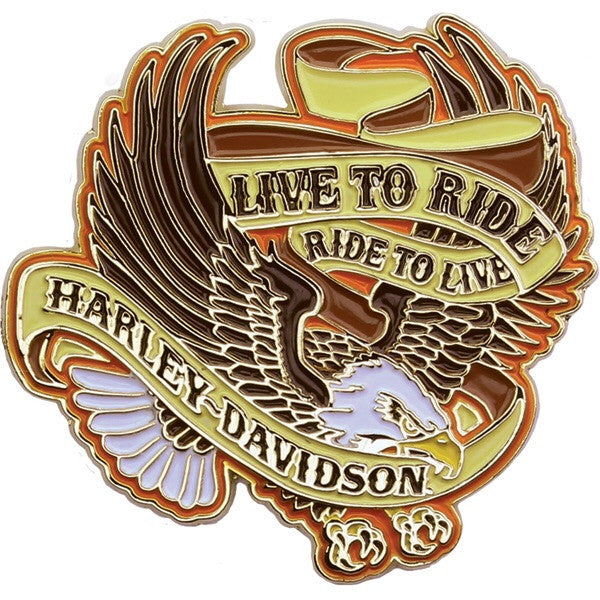 P009684 - Live To Ride Eagle Pin