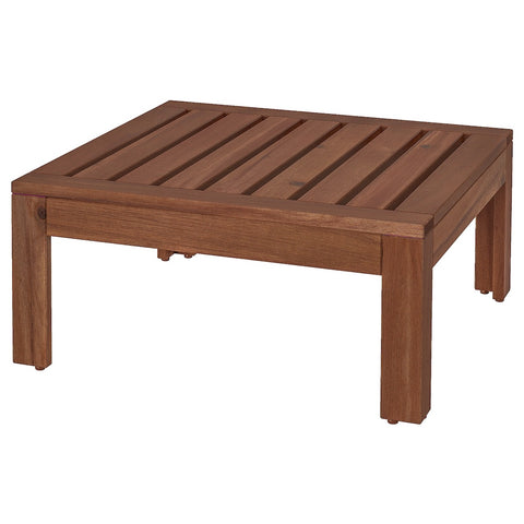 APPLARO Table/stool section, outdoor, brown stained brown, 63x63 cm. 00213445