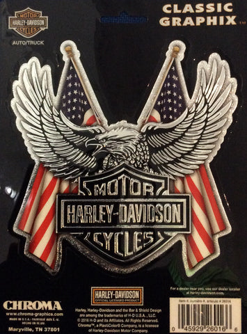 CG026016 Harley Davidson B&S Flags Chroma Classic Graphix