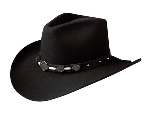 HD-15 BLK H-D® Black Crushable Wool Cowboy Hat With Satin Lining