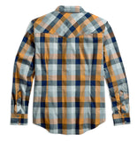 96668-17VM H-D Men's Black Label Lightweight Long Sleeve Plaid Shirt