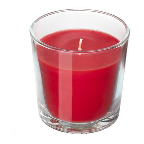 SINNLIG Scented candle in glass, Red garden berries, red, 7.5 cm. 00337403