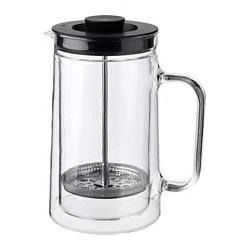 EGENTLIG Coffee/tea maker, double-walled, clear glass, 0.9. 50358978