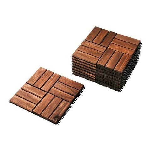 30234229 - RUNNEN  Floor decking, outdoor, brown stained brown, 0.81 m².