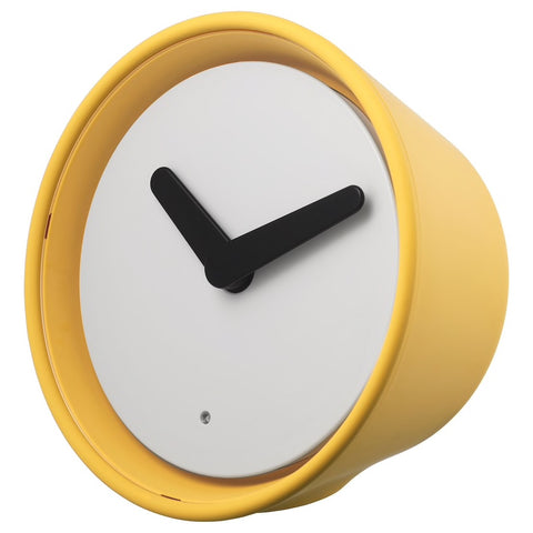 STOLPA Clock, yellow, 14cm. 90384065