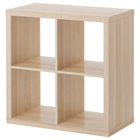 KALLAX Shelving unit, white stained oak effect, 77x77 cm. 90362921