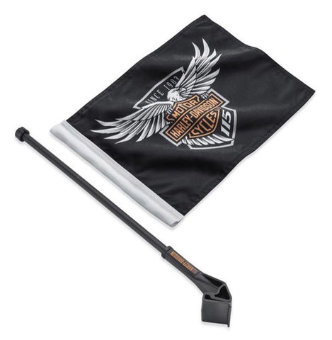 61400522   H-D® 115th Anniversary Flag Kit, Tour-Pak & Saddlebag Mount