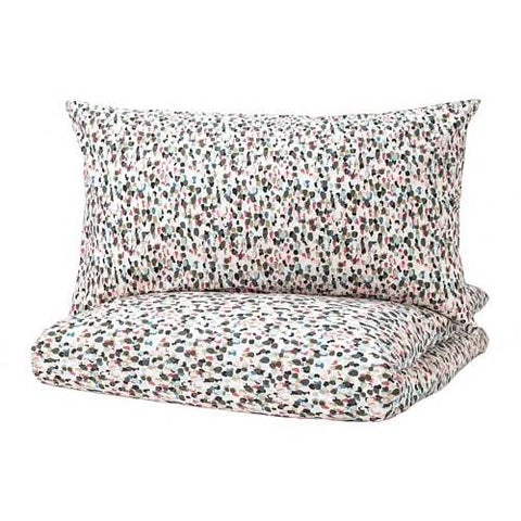 SMASTARR Quilt cover and 4 pillowcases, dotted, multicolour. 40337745