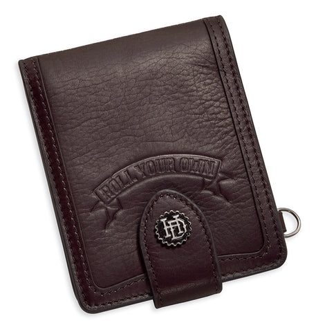 97779-17VM Harley-Davidson® Mens H-D Gear with D-Ring Brown Leather Bifold Wallet