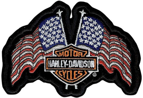 EM1047842 Harley Davidson - USA Flag Small Patch