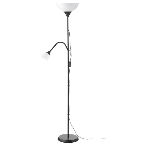 NOT Floor uplighter/reading lamp, black. 70324671