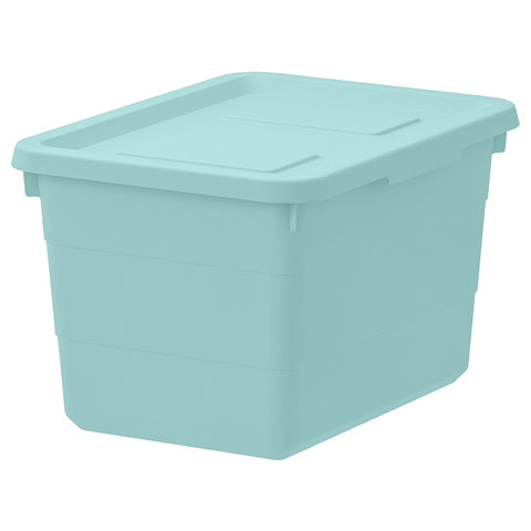 SOCKERBIT Storage box with lid, light blue, 19x26x15 cm. 20402015