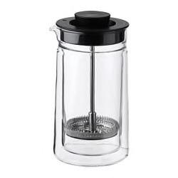EGENTLIG Coffee/tea maker, double-walled, clear glass, 0.3. 00361822