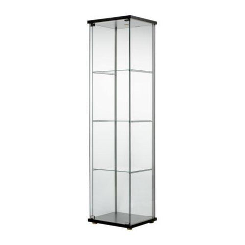 DETOLF Glass-door cabinet, black-brown, 43x163 cm. 40354042