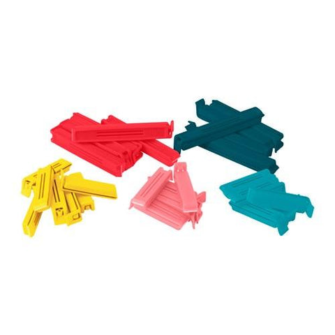 90339172 - BEVARA Sealing clip, set of 30, assorted colours, assorted sizes