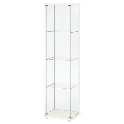 DETOLF Glass-door cabinet, white, 43x163 cm. 20354043