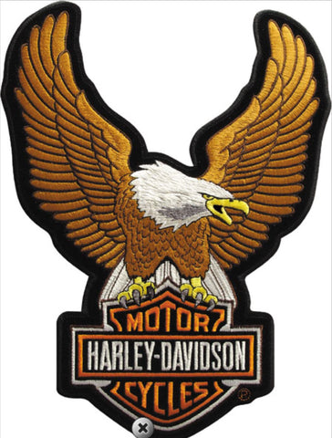 EMB328394 Harley-Davidson® Brown Upwing Eagle Large Patch