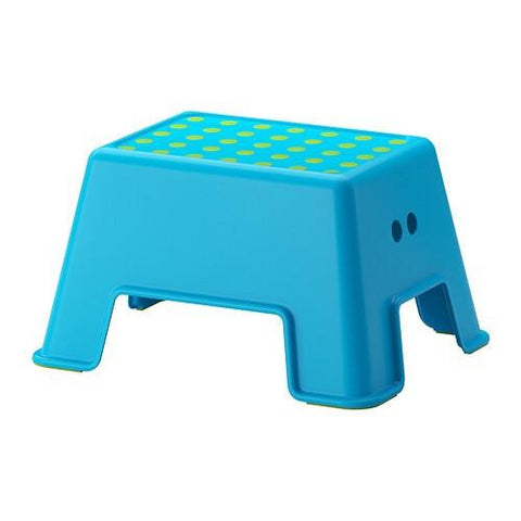 BOLMEN Step stool, blue. 50291332