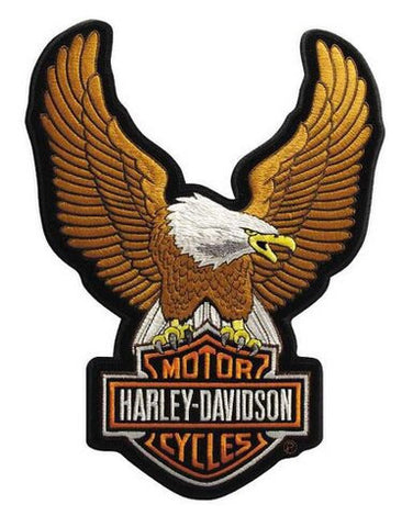 EMB328392 - Harley-Davidson® Brown Upwing Eagle Small Patch