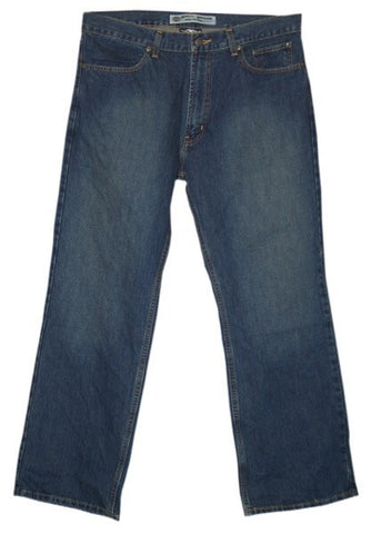 99027-09VM H-D® Mens Classic Boot Cut Midweight Distressed Blue Jean Denim Pants