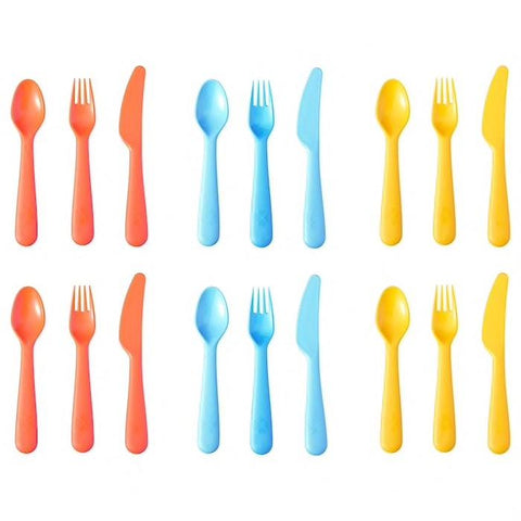 90419705 - SOMMAR 2019 18-piece cutlery set, mixed colours