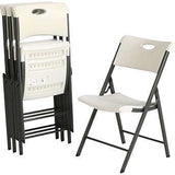 Lifetime Contemporary Commercial Folding Chair with Carrying Handle,l