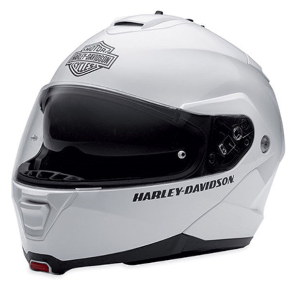 98371-15VM🔹H-D® Men's Core Capstone Sun Shield White Modular Helmet