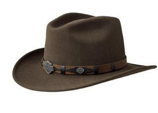 HD-18 BRN H-D® Brown Wool Cowboy Hat - Crushable