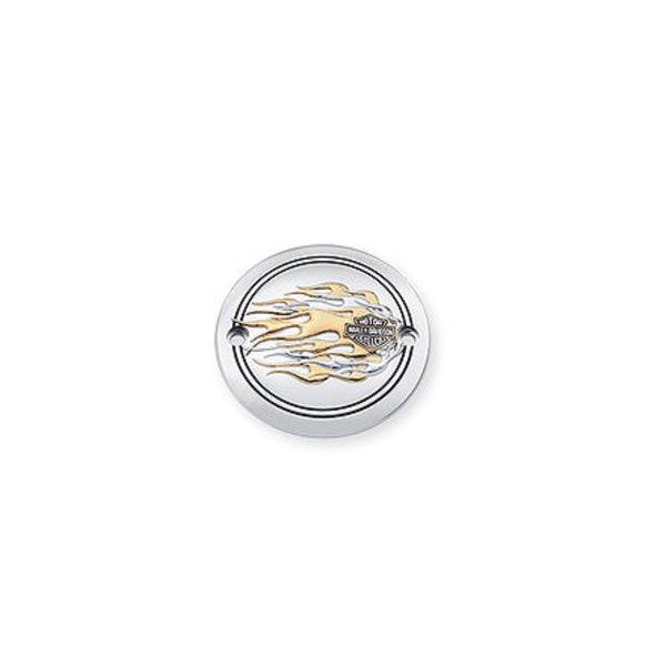 Flames Gold & Chrome Timer Cover - 32571-98A