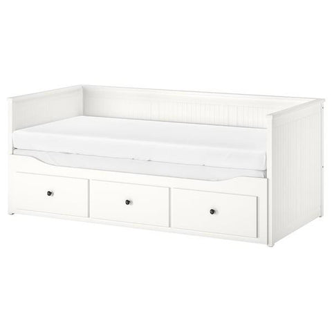 HEMNES Day-bed frame with 3 drawers, white, 80x200 cm. 70349327