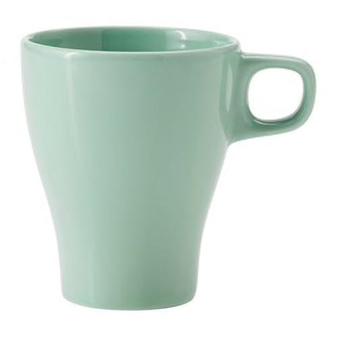 FARGRIK Mug, light green, 25 cl. 80318957