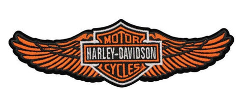 EM339813 - Harley-Davidson® Orange Straight Wing B&S Large Patch