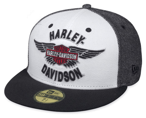 97654-17VM H-D Mens Winged Logo Trademark B&S 59FIFTY®