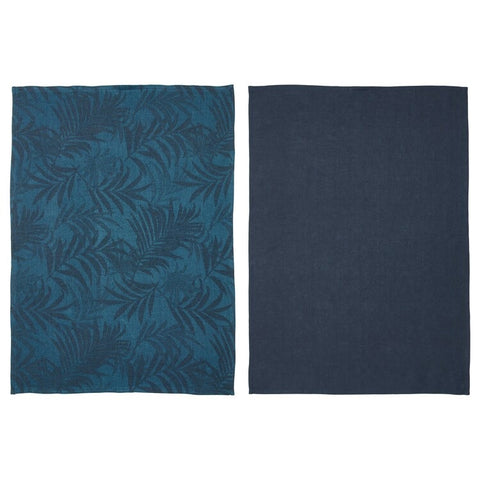VILDKAPRIFOL Tea towel, blue leaves, 50x70 cm / 2 pieces. 70365628