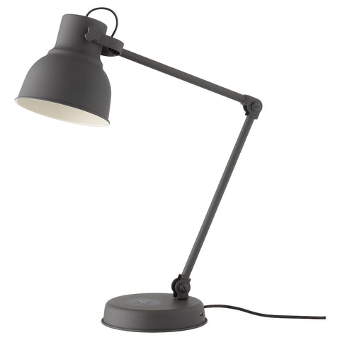 HEKTAR Work lamp with wireless charging, dark grey. 20323438
