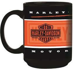 HD-BRN-2004 H-D Motor Cycles Branded Black Mug