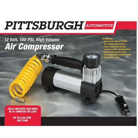 Pittsburgh 12V 100 PSI High Volume Air Compressor. 69284